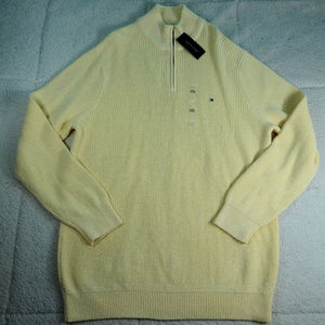 Tommy Hilfiger Yellow Qtr Zip Sweater 2XL NWT